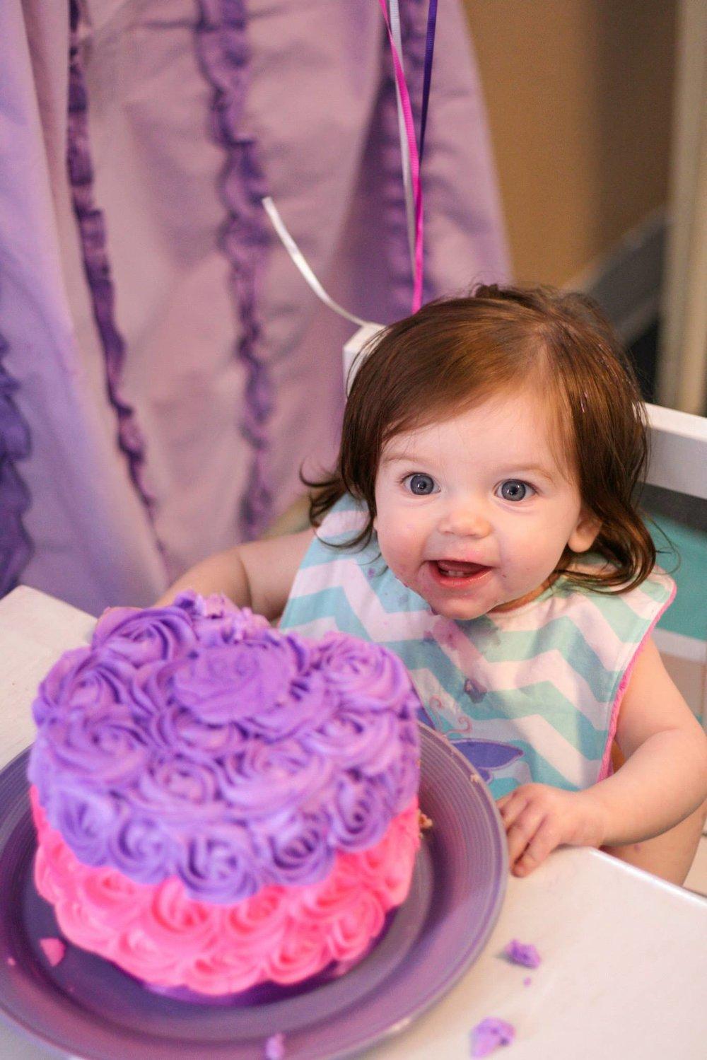 First Birthday Girl Cake Smash