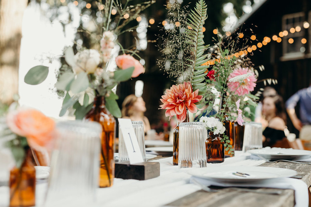 Jasper House Farm wedding decor
