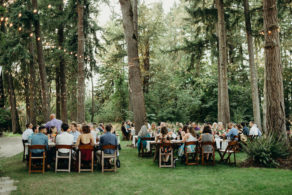 Jasper House Farm wedding reception