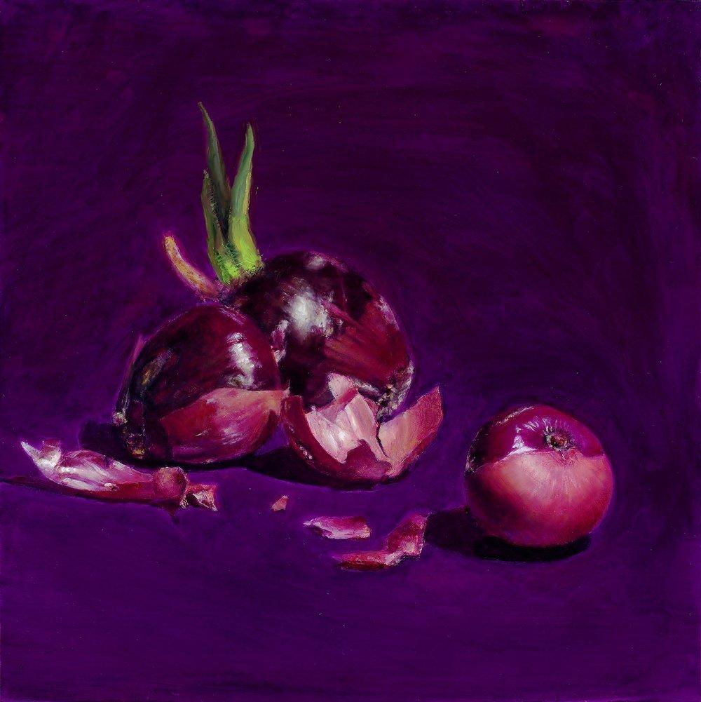 'Onions 2'  12''x12''  Oil on panel  2016