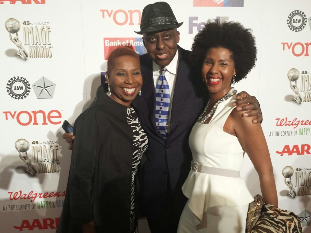 On the red carpet with friends Iyanla Vanzant and Bill Duke