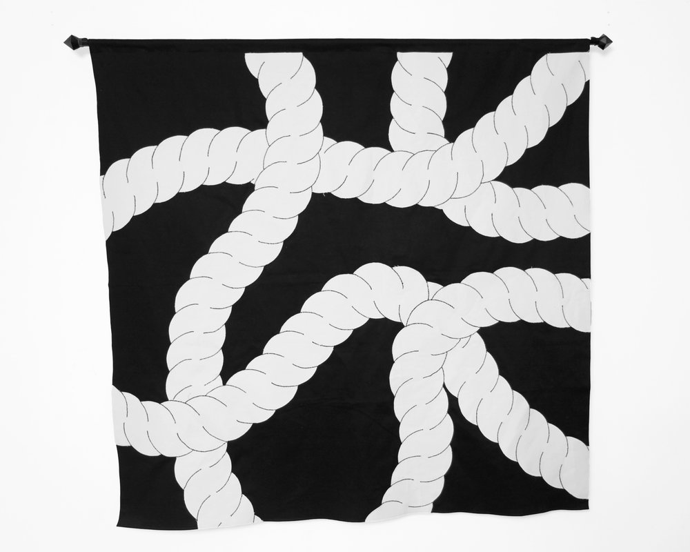 "Christopher Martin ""Rope Pattern #1"" Fiber. 50.5 x 50 Inches. 2018."