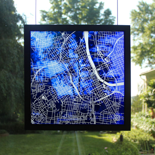 Nashville, TN, Glass Map — Cooper O\'neil Stained Glass