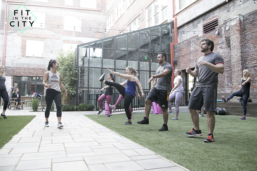 In honor, here is one of my favorite photos of #FitintheCity at Hotel Covington.