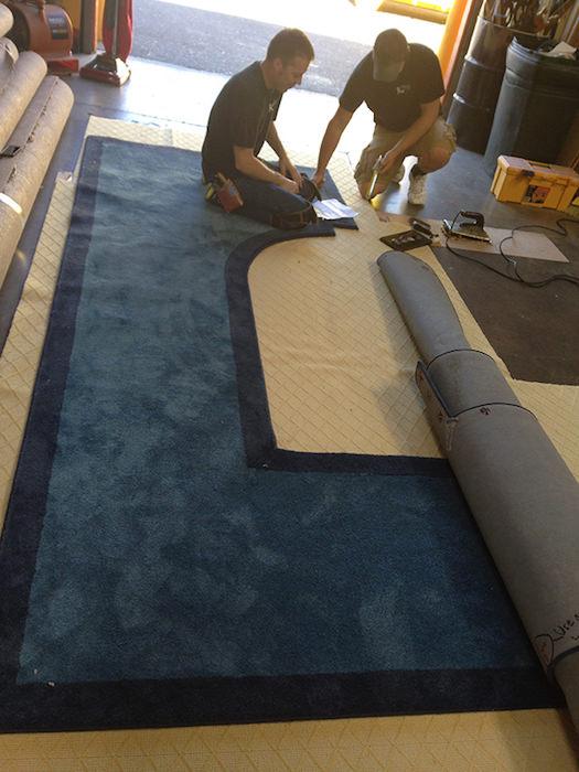 Custom fit rug