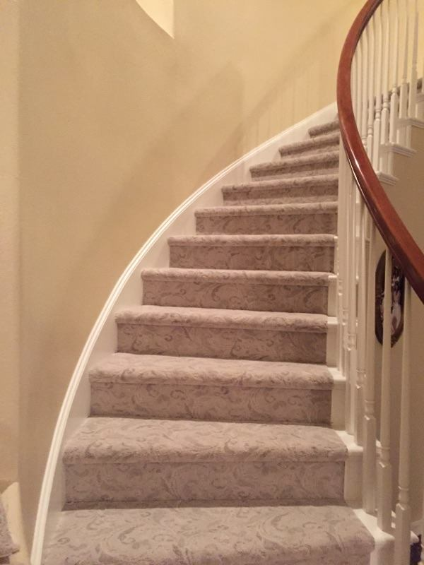 Stair runner bound edge