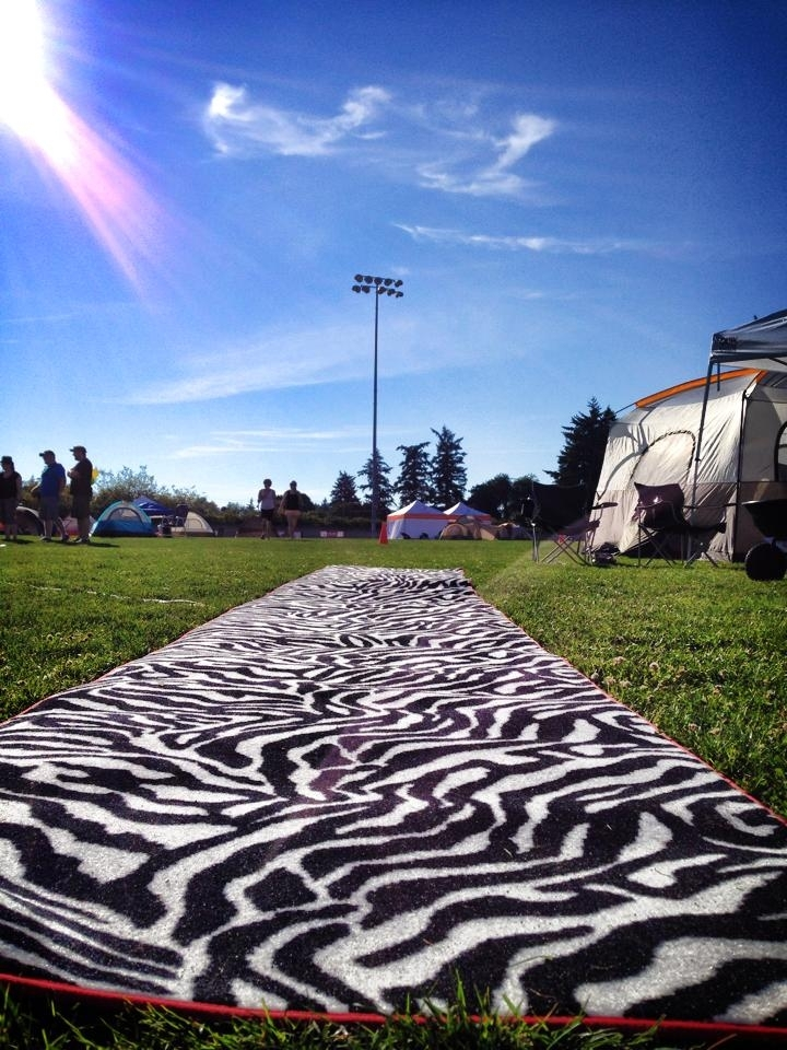Zebra Runner at Relay for Life