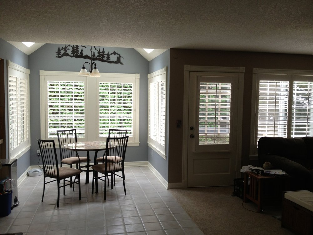 Shutters throughout home