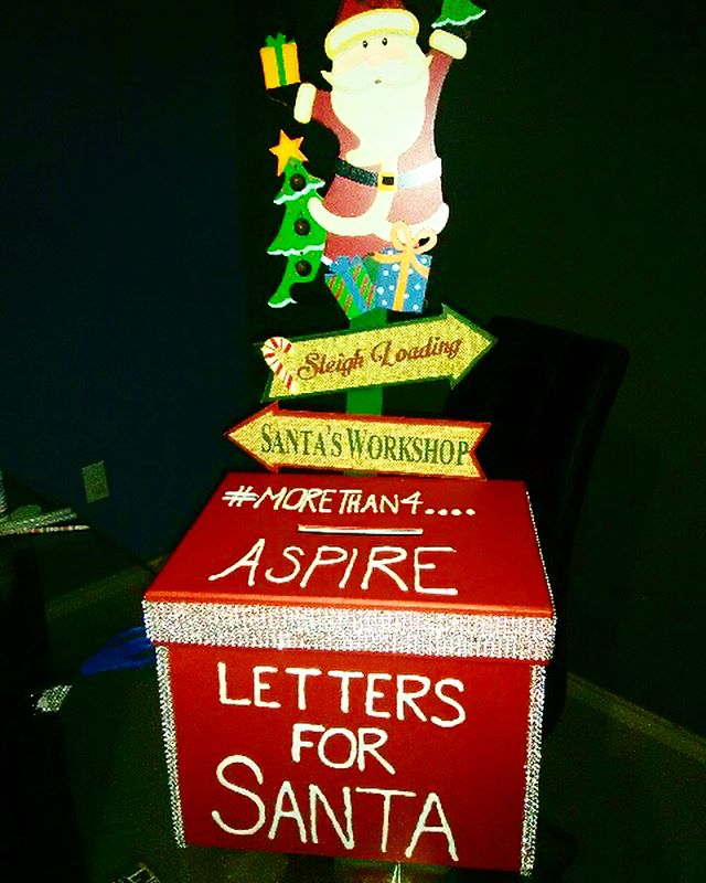 "Our ""Letters for Santa"" box has been placed on the pediatric oncology floor at the Doctor's Hospital at Renaissance. 😊  #AspireByAbraham is looking forward to fulfilling the wishes of these beautiful children during the Christmas season!🎄"