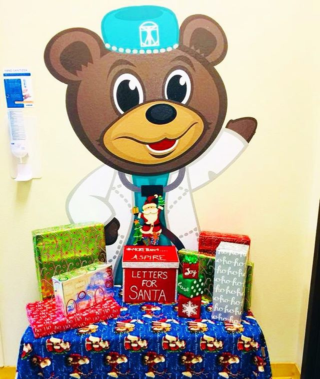 While our Letters to Santa box is being filled with the kids wish lists, we're seeking volunteers and gift wrap supplies donations.  If you would like to be a part of bringing smiles to the Doctors Hospital at Renaissance Pediatric Oncology please let us know so we can send you an application to your email.  Please submit requests to AspirebyAbraham@Gmail.com  11/20/17 thru 11/26/17.