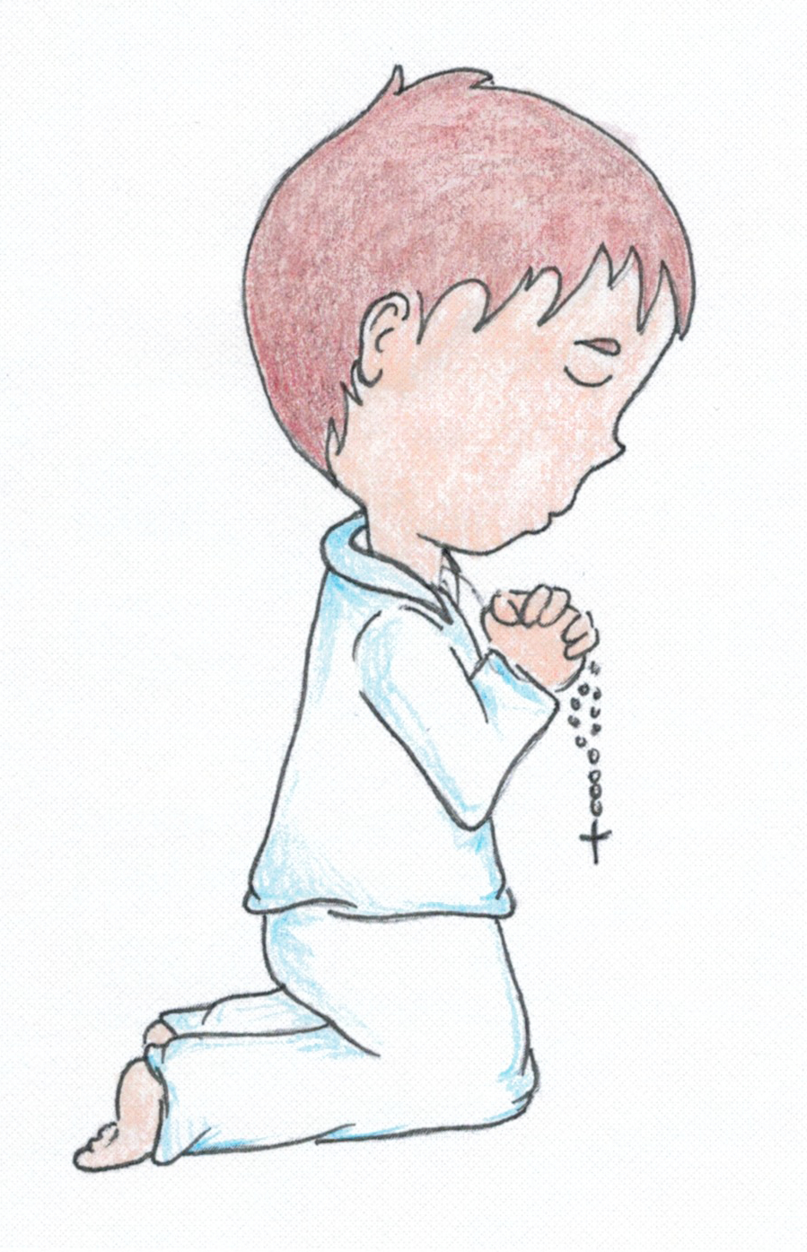 Praying Boy - Kneeling   Personalize the hair style and color.
