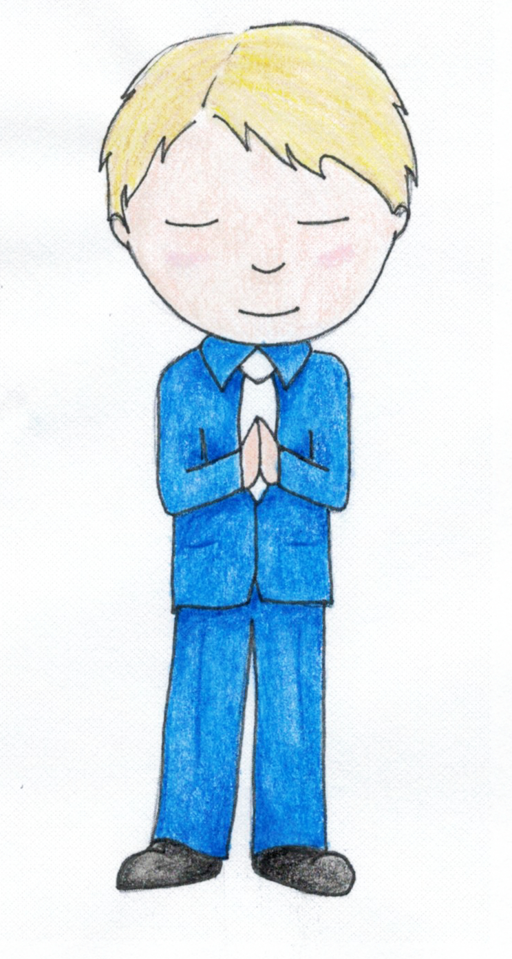 Praying Boy - Standing   Personalize the hair style and color and suit color.
