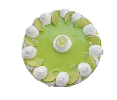 "LIME IN ECSTASY    Vanilla sponge filled with marshmallow buttercream and tart lime curd. Simple smooth sides and an elegant top of candied lime slices and swirls.  6"" - £30 / 8"" - £45/ 10"" - £60 / 12"" - £75"