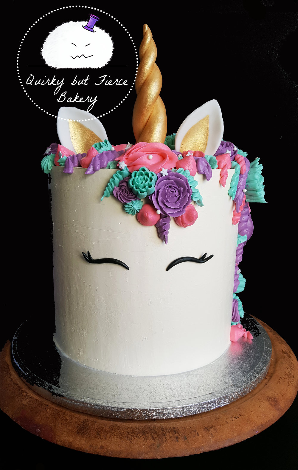 "UNICORN BEAUTY   Will unicorns ever go out of fashion? Never! This is an extended tier cake, standing at 8""!   Because the cake is so tall, the servings for each size are as follows:   6"" ~ 20+ / 8"" ~40+ / 10""~60+ / 12"" ~ 100+  6"" - £55 / 8"" - £75 / 10"" - £95  / 12"" - £115   Upgades:   - Confetti sponge layers (Vanilla or lemon only) - £5  - Hidden confetti chamber - £10  - Rainbow sponge layers - £20"
