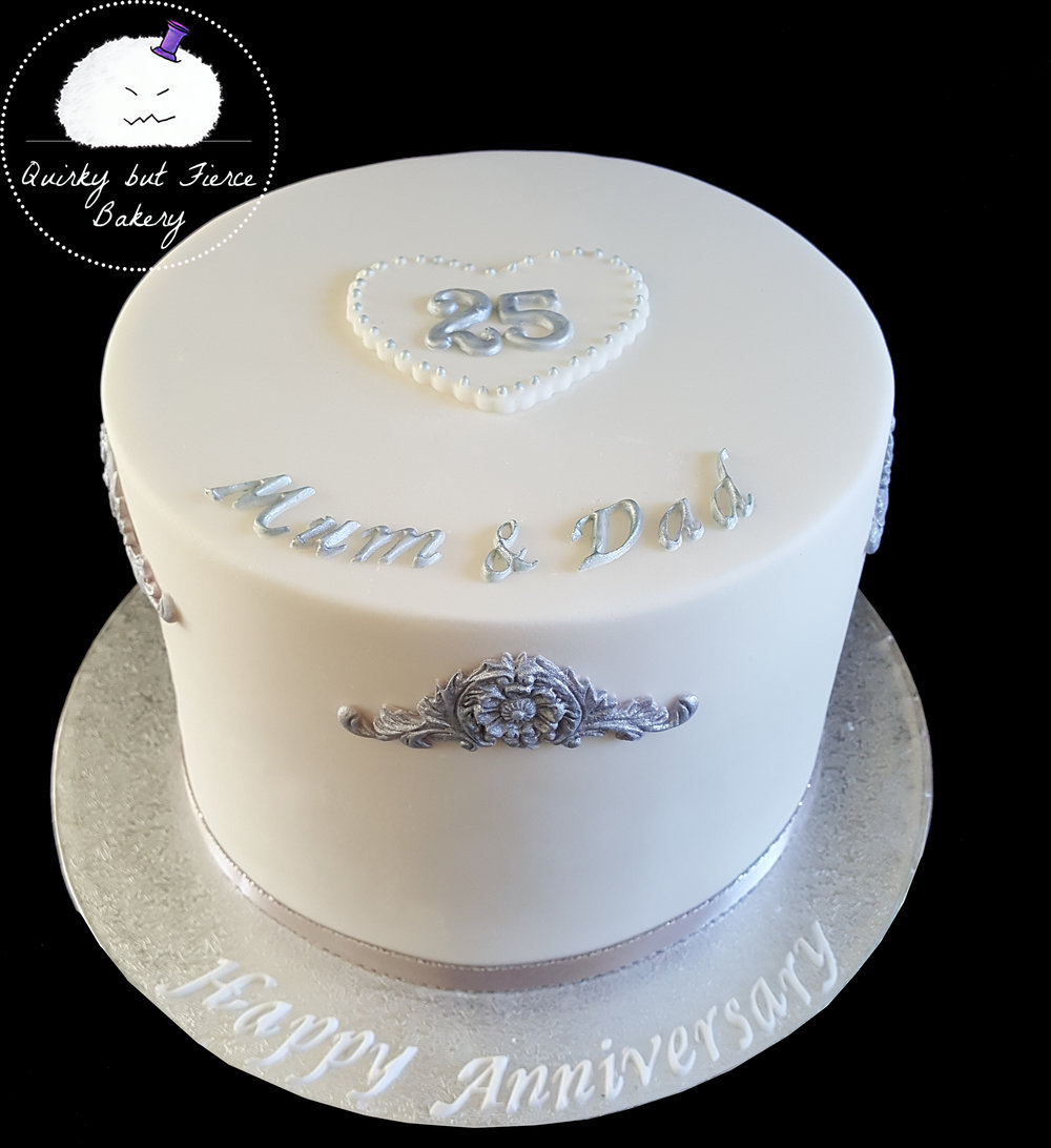 Simple Anniversary   Choose from our menu of flavors and personalize with names, colors, and years married.
