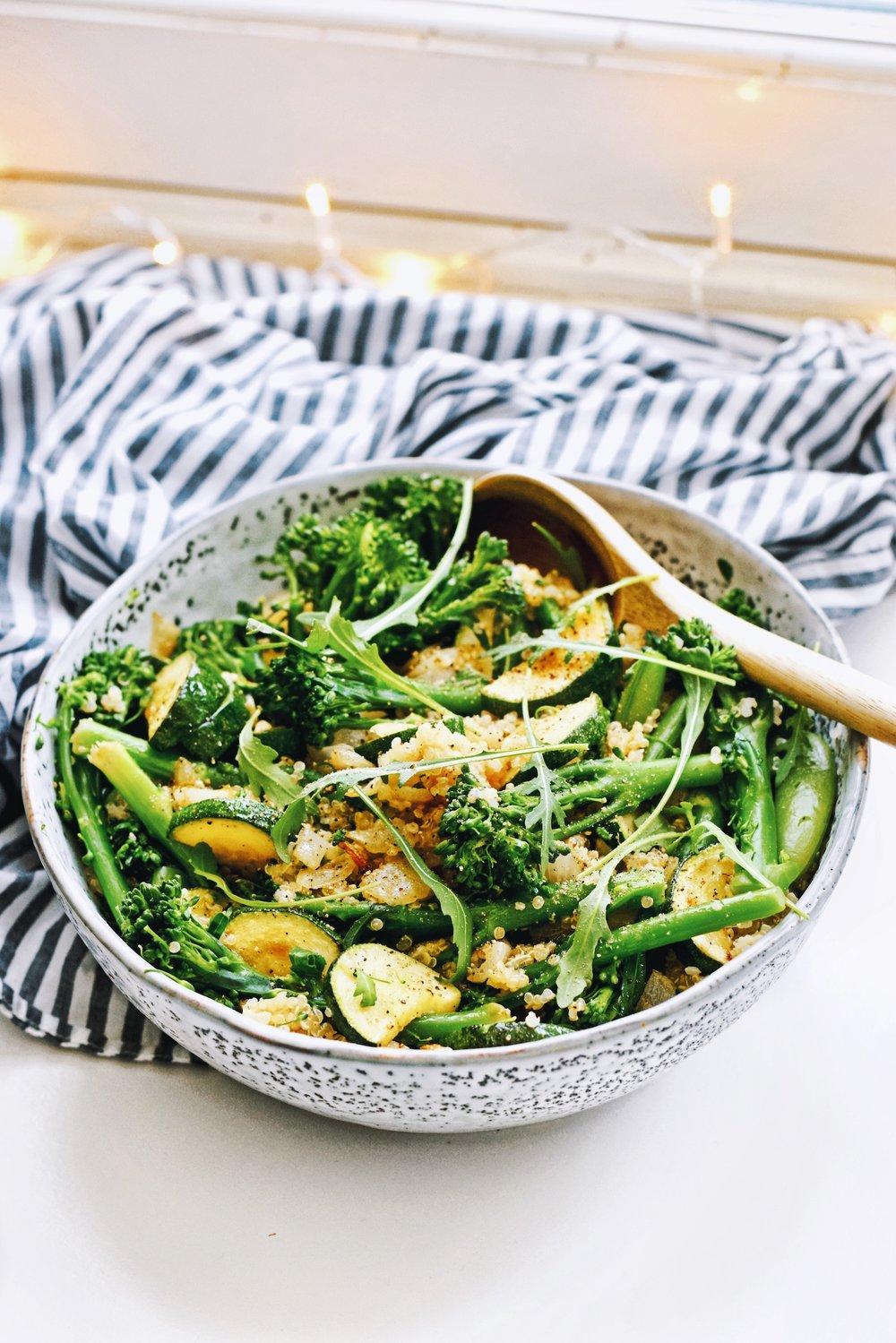 Gezonde quinoa salade / Makkelijke maaltijd salade