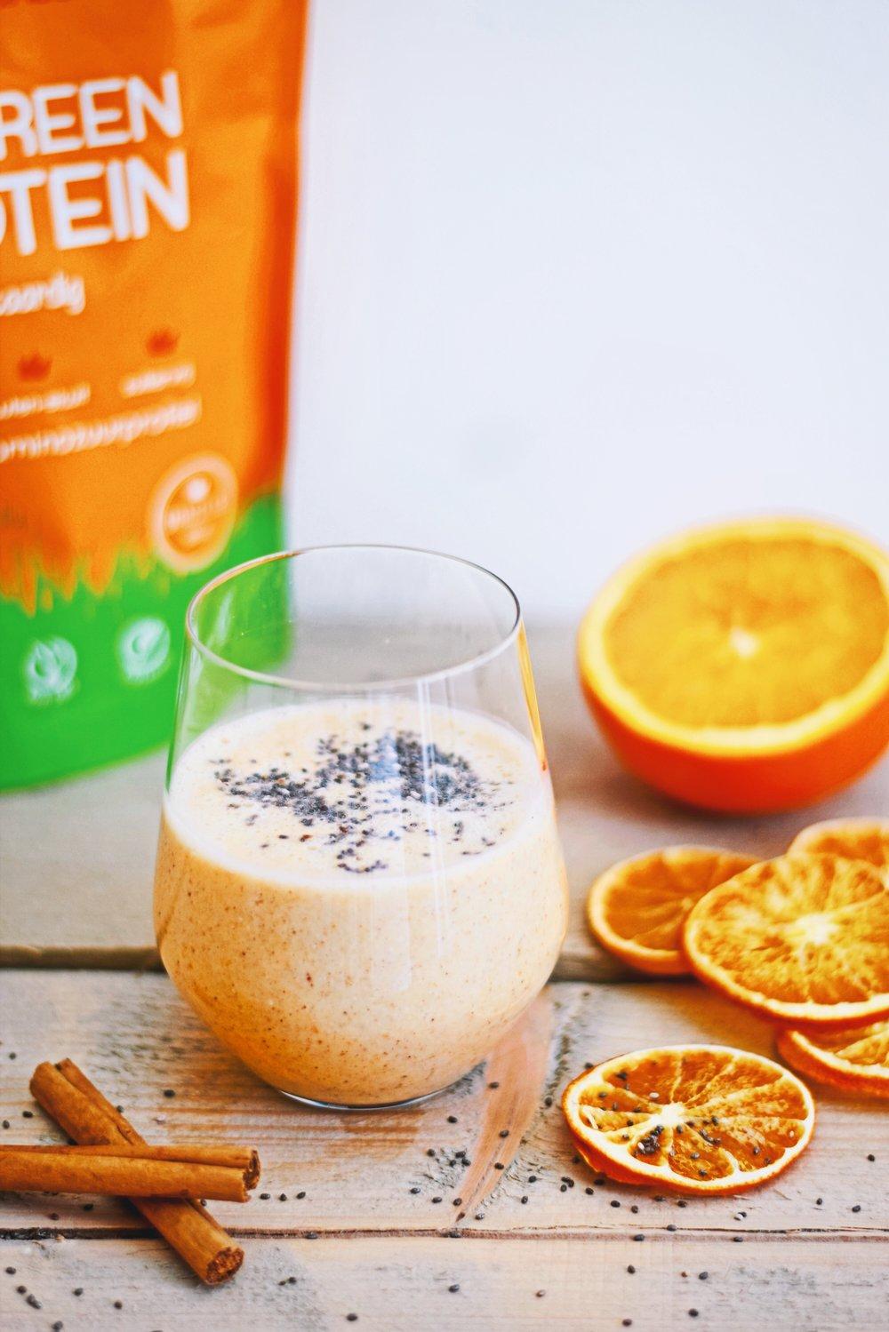 Sinaasappel smoothie | gezonde smoothie