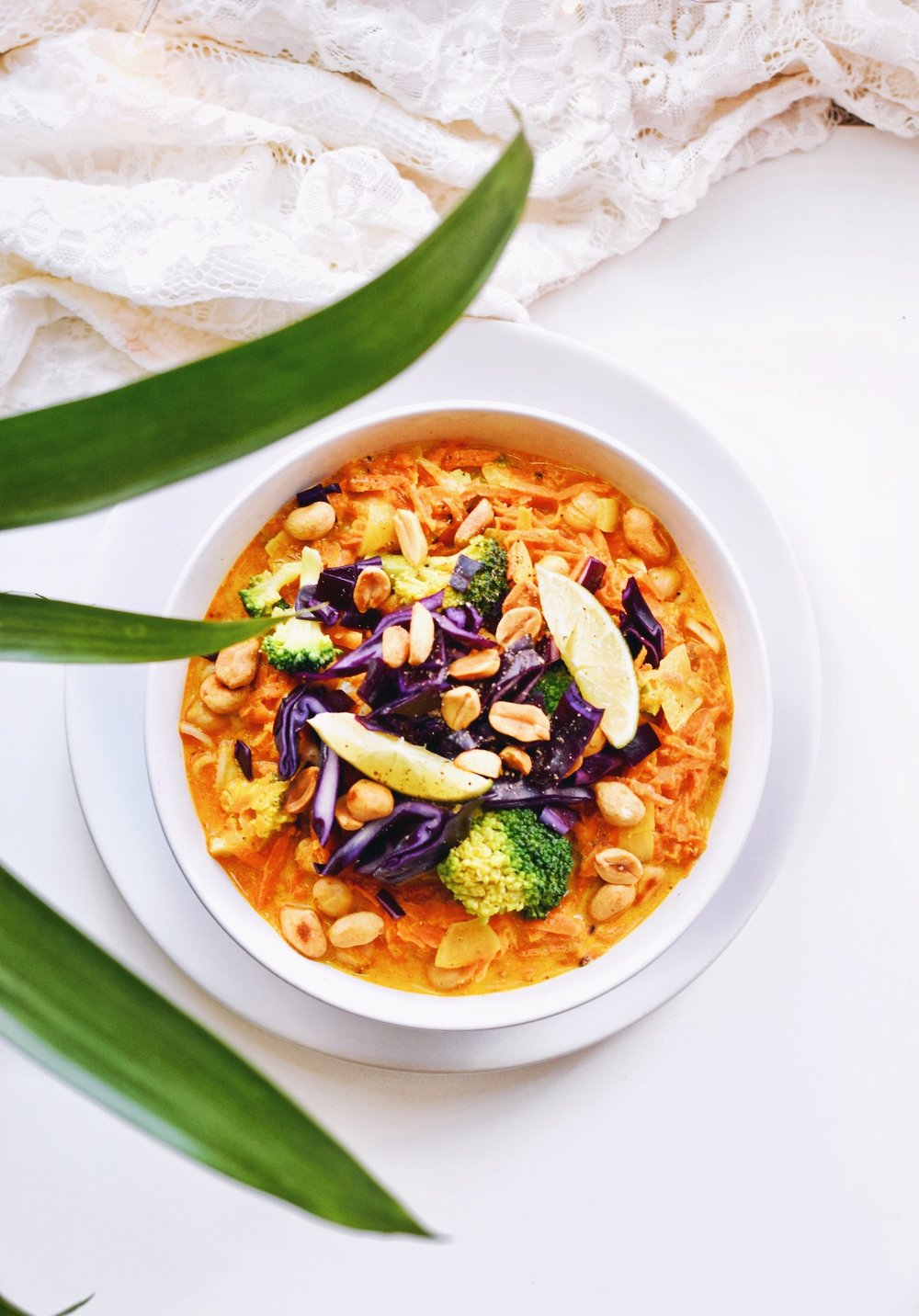 Curry noodle soep