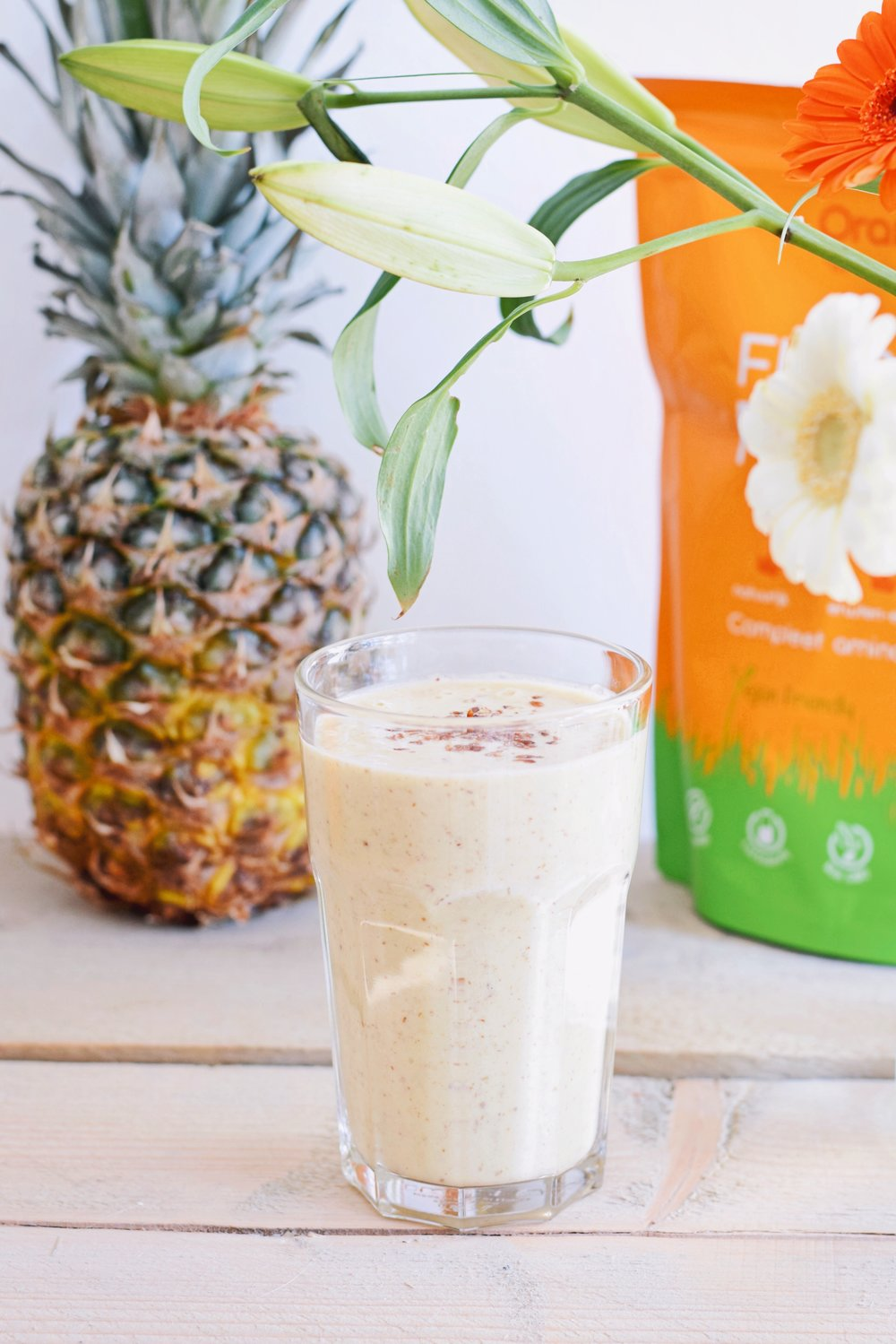 HEALTHY SMOOTHIE | PINEAPPLE BANANA SMOOTHIE