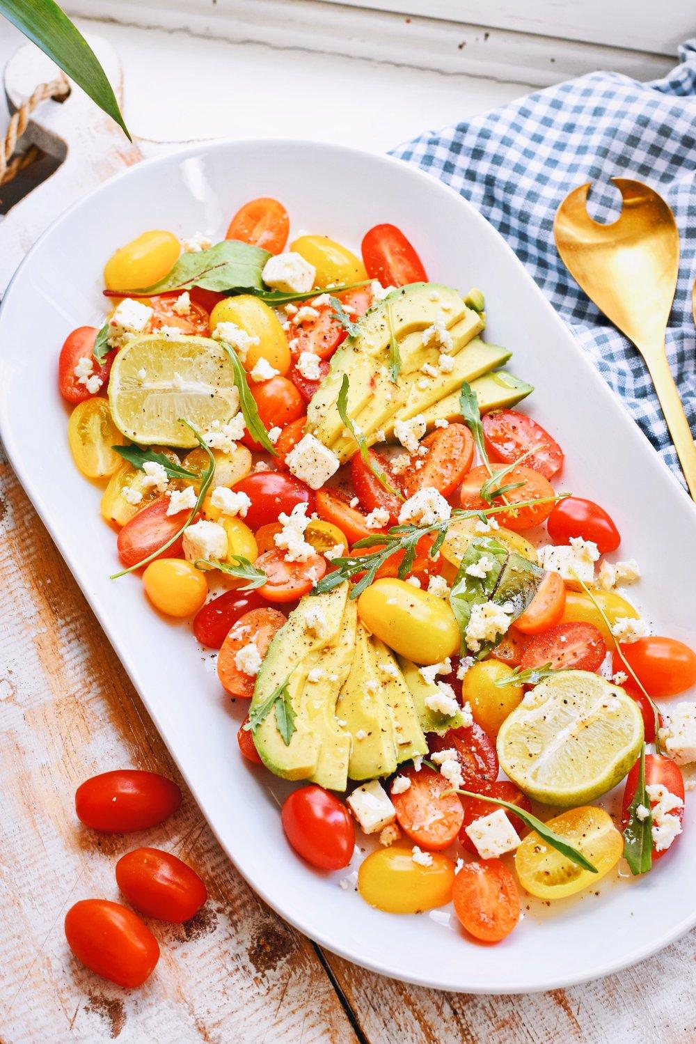 Lekkere tomaten salade