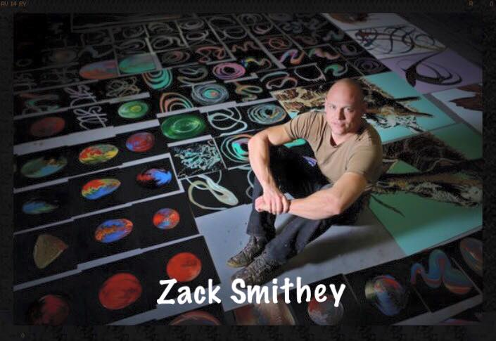 Zack Smithey has an enormous and diverse body of work. He has over 3,000 original pieces in public and private collections. In addition to art, he recently built the first shipping container home in the St. Louis area, which he plans to use as a model to build entire shipping container communities specifically for artists, musicians and performers. Smithey hopes to create an art mecca to draw creative people from around the nation to St. Louis.   Smithey has had over 70 solo shows and group shows, has done art/film work for Lincoln Center in NYC, created a series of art videos for world renowned pianist Inon Barnatan, is the creator of the Easter Art Hunt in STL, was commissioned to do Album art for Smother Party a band in Brooklyn, and has been published in the New Yorker, St. Louis Post-Dispatch, St. Louis At Home Magazine, All The Art, St. Louis Magazine, StreetScapes Magazine, St. Louis Homes & Lifestyles, Uptown Magazine, Community News, Lindenwood Connection and St. Charles Magazine. He has been covered/interviewed on NBC, Fox, CBS, and USA Today.