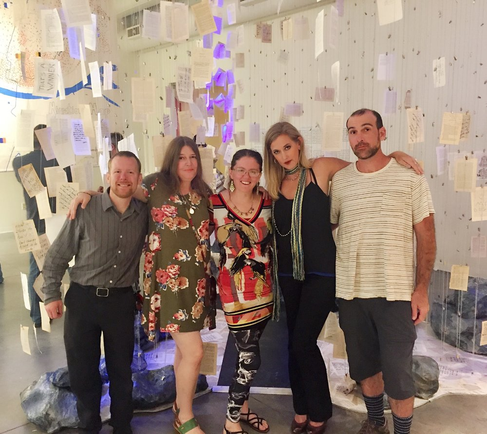 Evocation Opening Reception, Regional Arts Commission - From Left to Right: John Stanford, Rose Merello, S. Jewell S. McGhee, Erin McGrath Rieke, Kevin Merello (not pictured) Megan Hutt