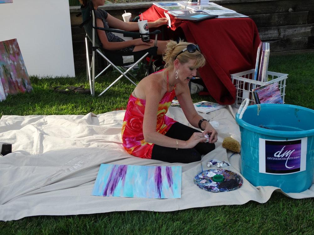 Erin McGrath Rieke. Live Art at Let Them Eat Art. Photocredit Derek Rieke.JPG
