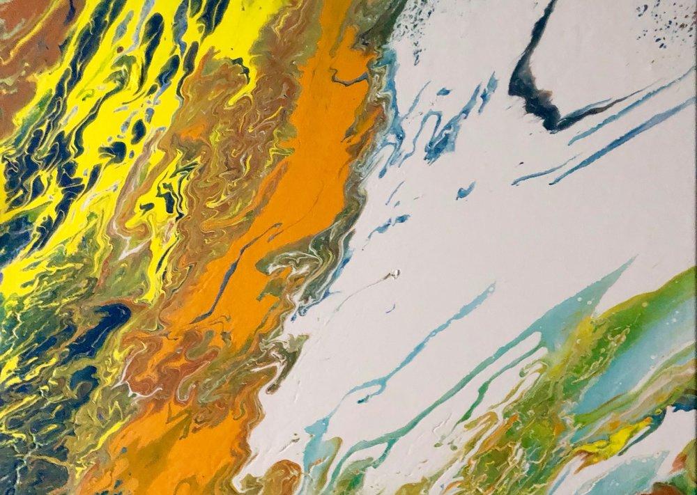 Erin McGrath Rieke | Untitled | Acrylic on Canvas | 16x20 | 2018