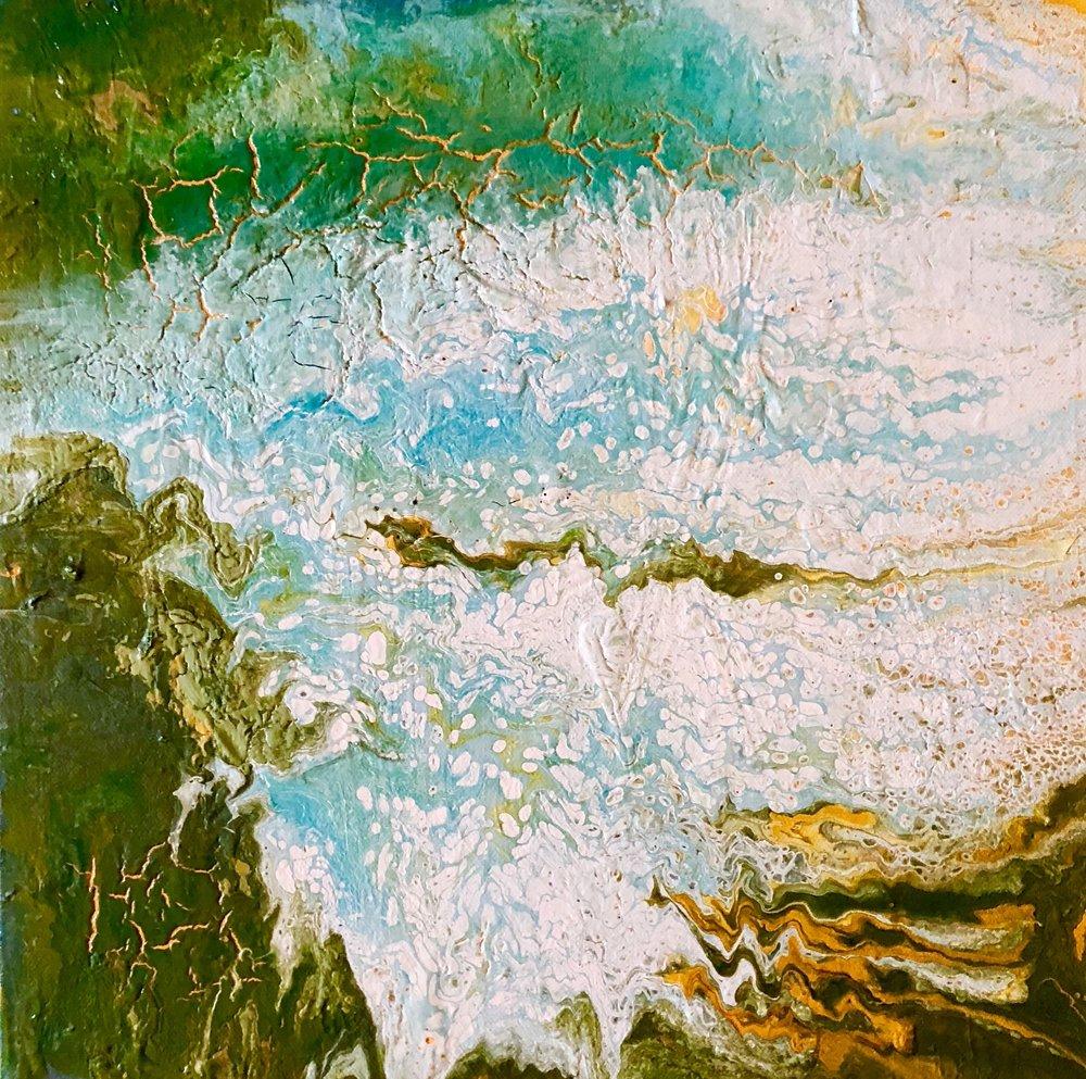 Closer to Free | Erin McGrath Rieke | Acrylic on Canvas | 12x12