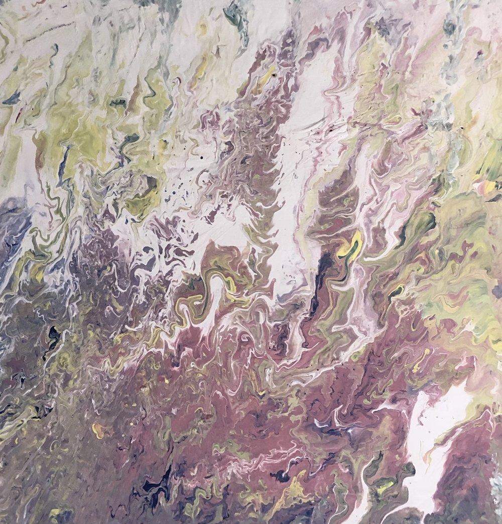 Somewhere I Can Belong | Erin McGrath Rieke | Acrylic on Canvas | 20x20