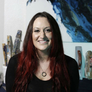 Artist Holly Anderson in her Phoenix Studio