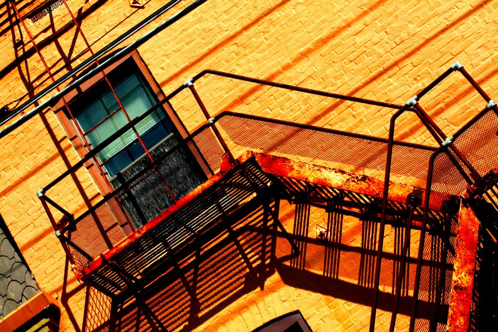Fire Escape From My Mind | Julie Johnson | Photographic Print on Canvas | 8x10