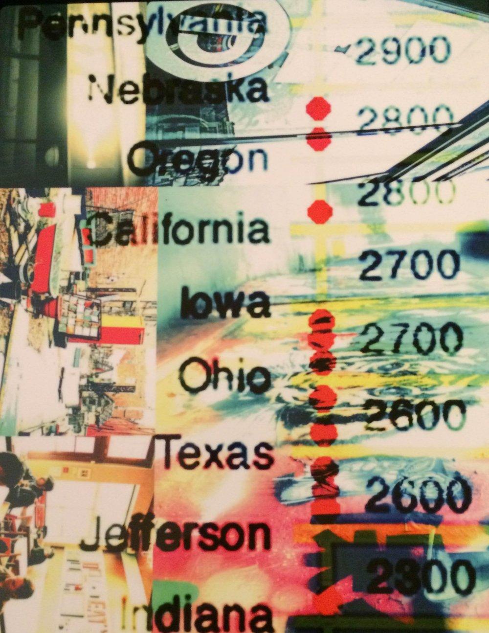 City Photo Map Collage II | Julie Johnson | Digital Print on Metal | 8x10