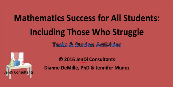 Mathematics Success for All Students: Including Those Who Struggle     Tasks and Station Activities    Tasks  are applications of the mathematical concepts at the end of a unit. These are typically more involved problems than what they experience through daily practice.  Station Activities  give students a platform to review the skills learned in a lesson in a more relaxed atmosphere as they move around all stations. They include 2-3 different types of problems through activities that review more problems of similar type they have worked on through the lesson or unit. Typically, these activities should plan for 1-2 days.   Download for $8.00