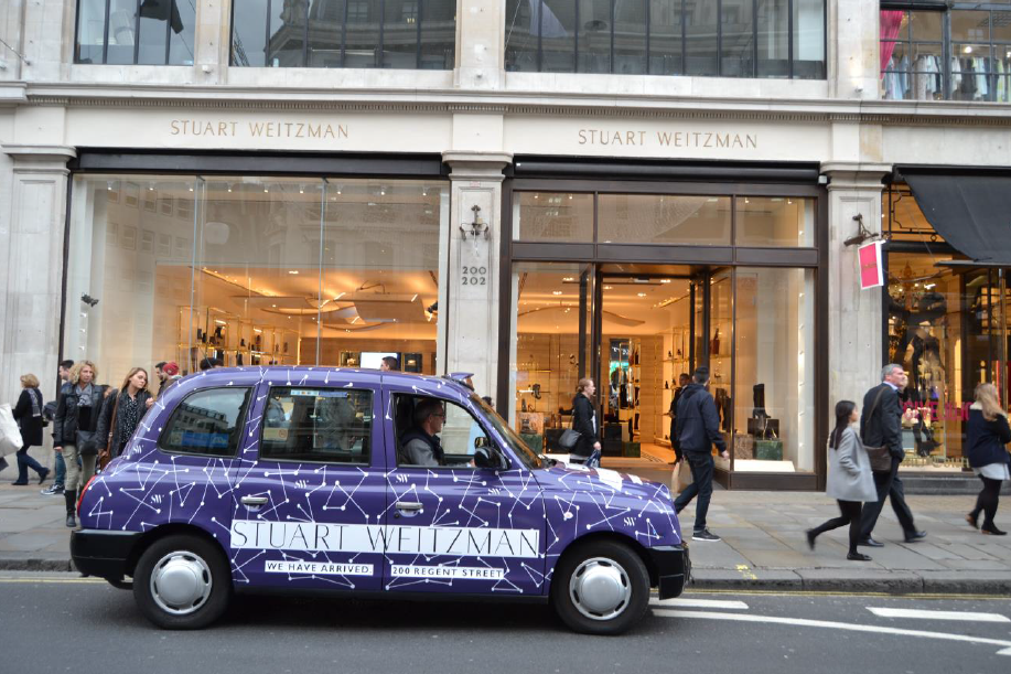 Taxi for Stuart Weitzman launch in London, 2017