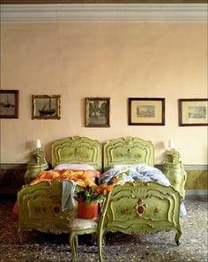 Twin beds  - green shoved together.jpg