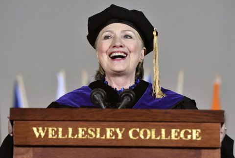 Watch: Hillary's full Wellesley commencement speech