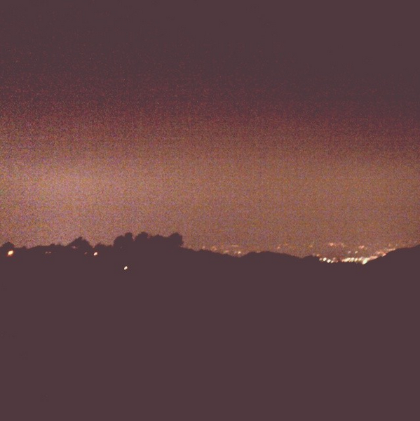 Hollywood Hills at night