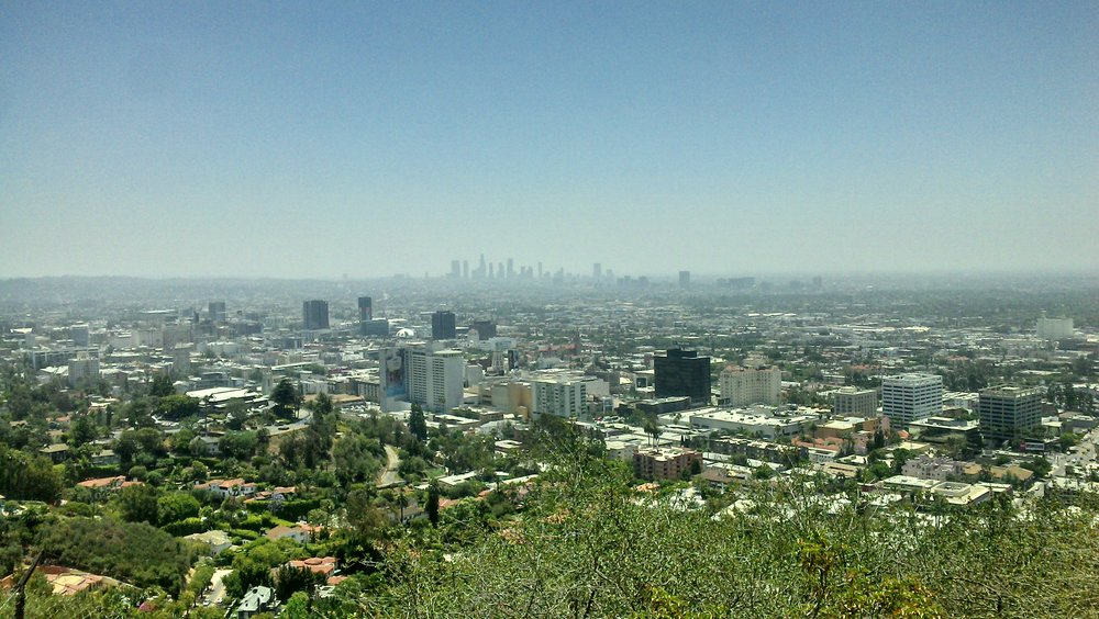 View of LA from Runyon Canyon, Hollywood