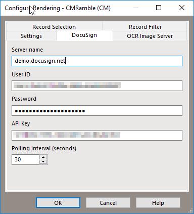 Rendering Service Configuration