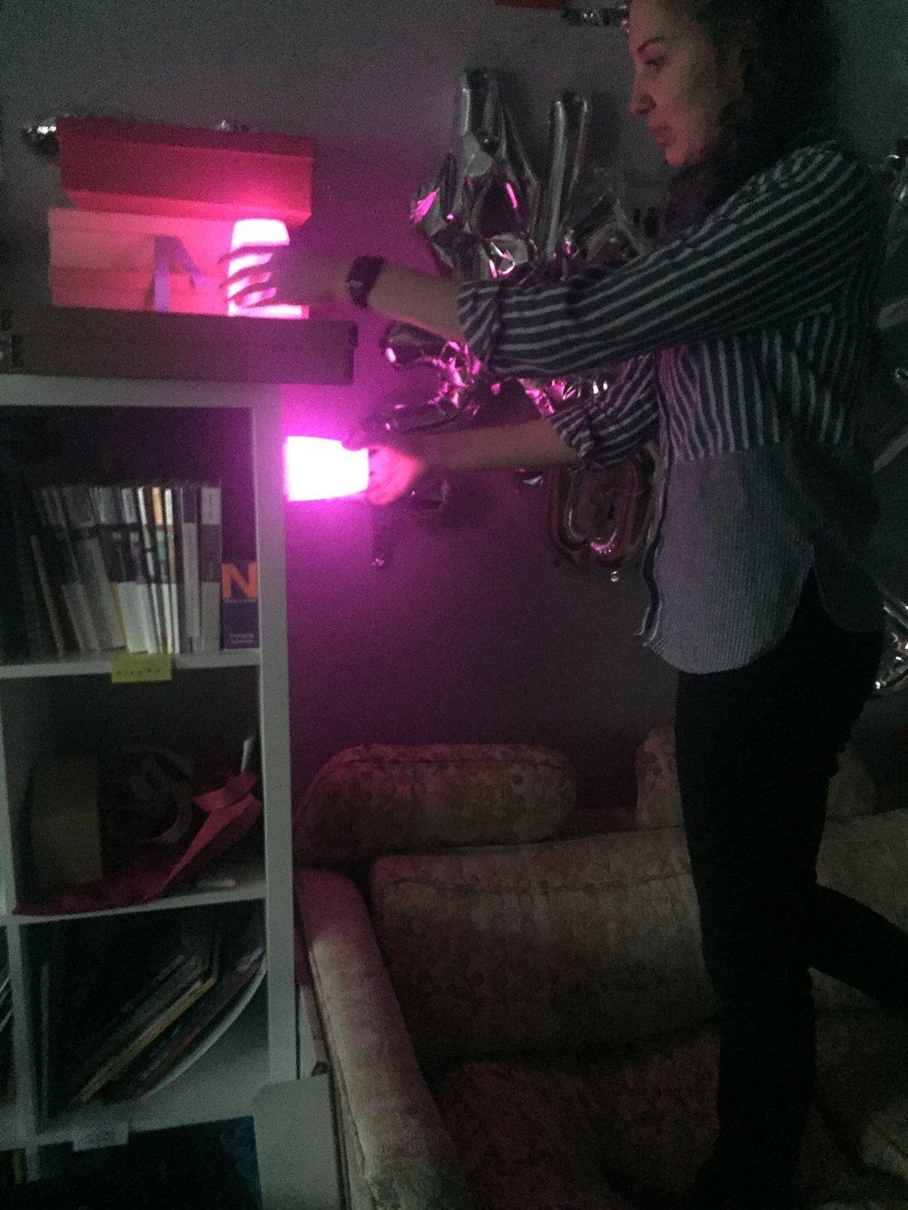 Prototyping with classmate Maryana Kuznetsova
