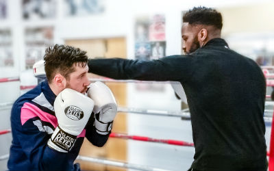 """<div style=""""text-align: left""""><strong>Combo Nation UK</strong><span style=""""color: #7d7d7d; font-size: 85%;""""><br>Boxing Training: £55<br>4 x Sessions: £209 (5% off)<br></span></div>"""
