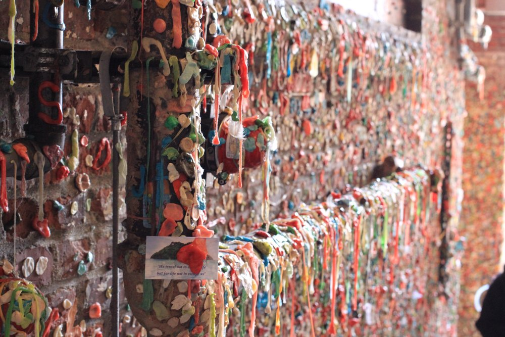 In case you're hungry... here's the gum wall at Pike Place Market.