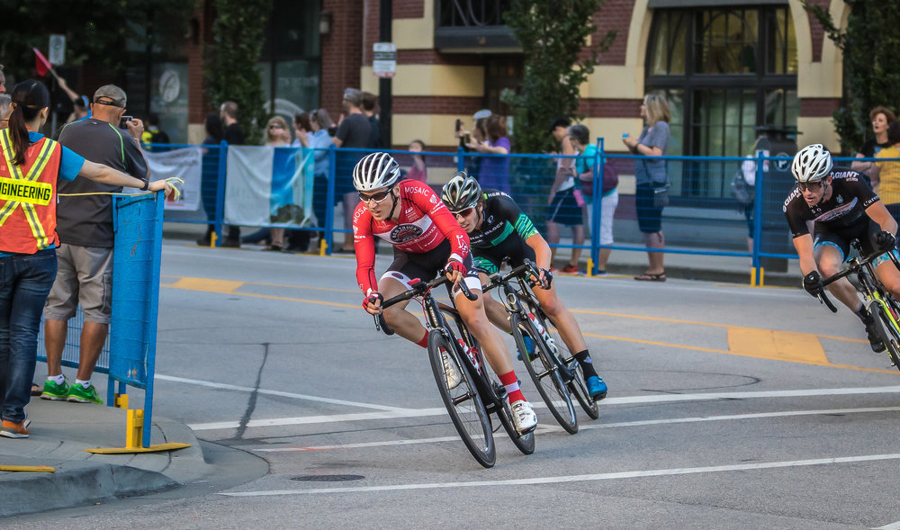 Off the front at New West GP Photo by Tammy Brimmer