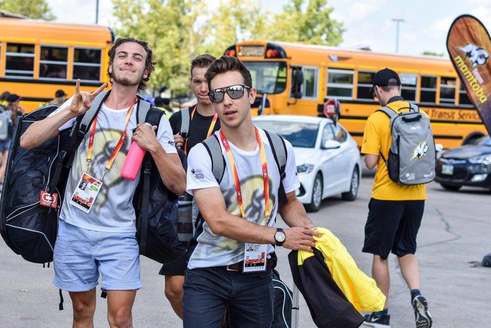 Me, Kurt, Danick. Heading to the village.