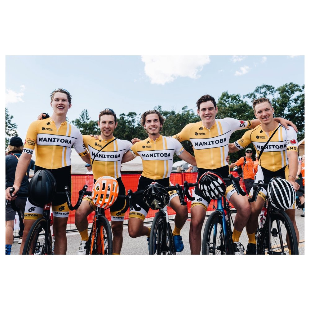 Team Manitoba. Left to right: Willem, Danick, Oli, Mitch, Kurt