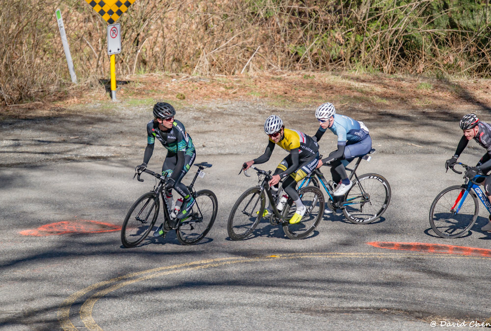 Watching my breakaway companions on the climb. Photo by John Denniston.