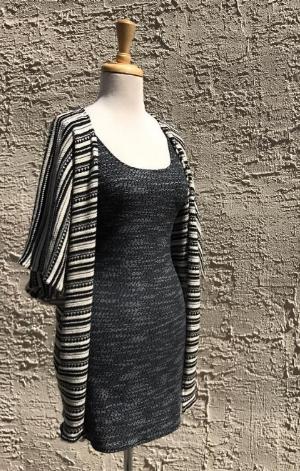 Earl Salko Grey Knitwear Pencil Dress with Earl Salko Knitwear Shawl