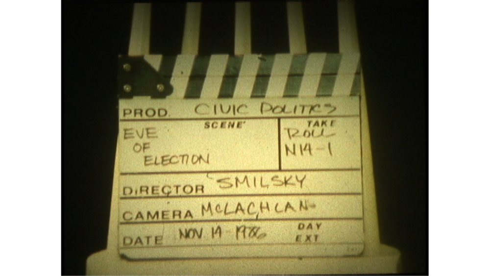 Slate from director Peter Smilksy's original film shoot in 1986.