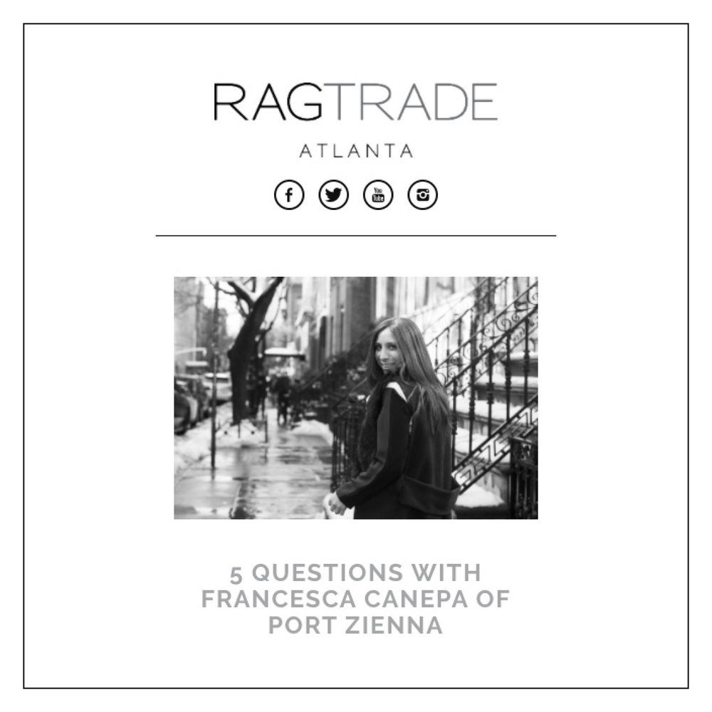 Ragtrade Atlanta  —  5 Questions With Francesca Canepa